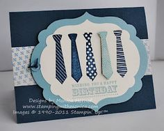 Masculine cards are so difficult! This one works for Father's Day and for a Birthday card. Masculine Birthday Cards, Birthday Cards For Men, Man Birthday, Masculine Cards, Boy Cards, Stampinup, Fathers Day Cards, Card Tags, Creative Cards