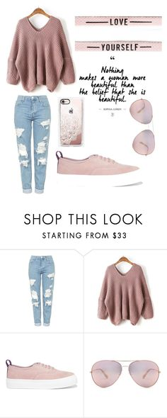 """""""Simple rose"""" by vicvic23 ❤ liked on Polyvore featuring Topshop, WithChic, Eytys, Oliver Peoples and Casetify"""