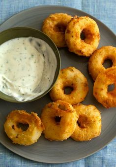 Fluffy & Fried: Potato Rings with Ranch Dipping Sauce
