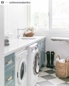 """Explore our website for additional information on """"laundry room storage diy small"""". It is an excellent spot to read more. Mudroom Laundry Room, Farmhouse Laundry Room, Laundry Room Design, Mudroom Cabinets, Scullery Ideas, Checkerboard Floor, Laundry Room Inspiration, Small Storage, Small Shelves"""