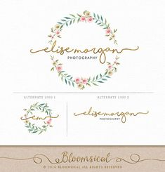 Photography Logo Branding Set  Logo Secondary by Bloomsical