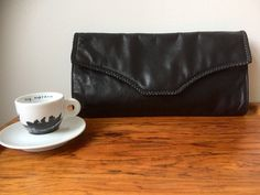 Your place to buy and sell all things handmade After Work Drinks, Leather Clutch, Vintage Items, Wallets, My Etsy Shop, Black Leather, Buy And Sell, Pairs, Tote Bag
