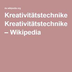Kreativitätstechniken – Wikipedia