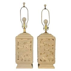 Image of Mid-Century Blanc De Chine Lamps - A Pair
