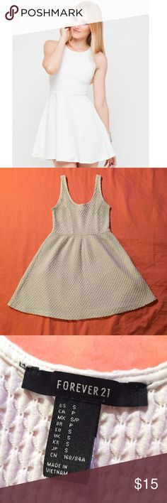 Creme Skater Dress Gently worn ; size small ; above knee length Forever 21 Dresses Mini