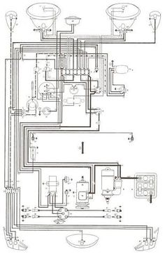 '66 and '67 VW Beetle Wiring Diagram Pinterest Vw