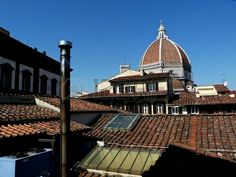 Dome of the cathedral from the roofs, Florence, Italy