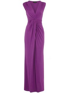 Long dress- gathers/shirred- form-fitting by Dorothy Perkins (even in size 18)!