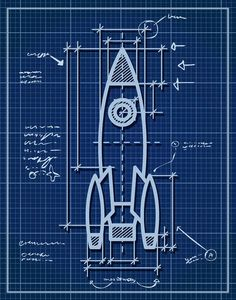 Rocket Ship Wall Art Space Theme Kids Room by InvitingMoments