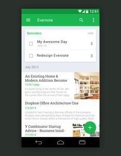 10 Awesome Examples of Material Design Evernote App android productivity Android Material Design, Android App Design, Android Apps, Mobile Application Design, Mobile Ui Design, Google Material Design, App Design Inspiration, Design Guidelines, Interface Design