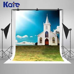 Beautiful Churches Buildings Photography Backdrops by katehome2014