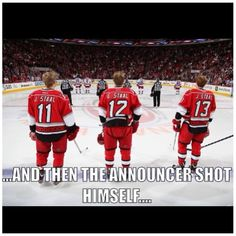 Too many Staal's for one to handle. It'd been worse if Marc were there. AND there's two J.Staal's. Lolololololol