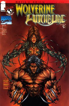 Wolverine & Witchblade by Micheal Turner (Marvel, Image/Top Cow comics) Wolverine Comics, Dc Comics, Image Comics, Anime Comics, Book Cover Art, Comic Book Covers, Comic Books Art, Book Art, Spawn