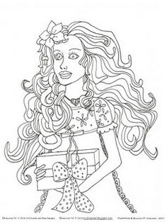 Hand Drawn #Vintage Barbie Inspired Coloring Page