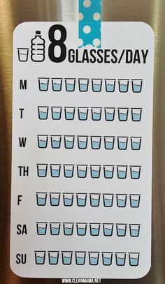 Keep track of your water consumption with this FREE printable.