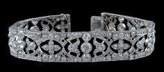 Circa 1920's VAN CLEEF & ARPELS Diamond Bracelet - Yafa Jewelry