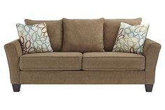 Mocha Corson Queen Sofa Sleeper View 2
