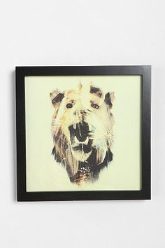 Dan Mountford Double Exposure Lion Art Print $39.00