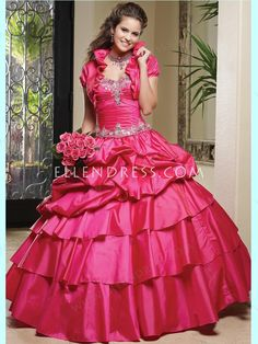 2014 New Style Ball Gown Sweetheart Taffeta Quinceanera Dresses #USAZT439 - Sweet 16 - Quinceanera Dresses - Special Occasion Dresses