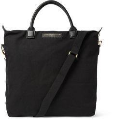 WANT Les Essentiels de la Vie O'Hare Leather-Trimmed Cotton-Canvas Tote Bag | MR PORTER
