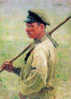 Ilya Repin - Mowing-littin, Zdravnevo 1897