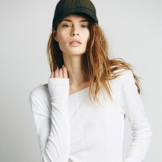Free People Sweet Dream Layering Top Size Small White Color. I wore two times this is in perfect like new cond super soft finely ribbed long sleeve layering top w thumb hole detailing stretchy  60% pima cotton 40% modal Free People Tops Tees - Long Sleeve