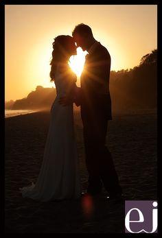 An intimate beach wedding at Summerland beach in Santa Barbara. We captures this sunset silhouette Sunset Beach Weddings, Beach Wedding Photos, Beach Wedding Photography, Wedding Pictures, Silouette Photography, Wedding Shot, Wedding Ideas, Wedding Beach, Beach Pictures