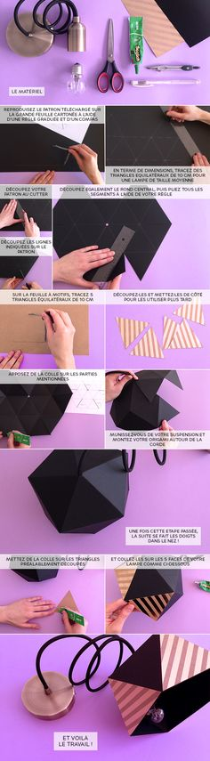 Vous êtes à la recherche d'une lampe unique et personnalisable ? LE BHV MARAIS vous explique comment réaliser une lampe origami, idéale pour illuminer vos soirées cosy. La liste du matériel : – Suspension «Girard Sudron» – Ampoule – Papier cartonné – Compas – Ciseaux – Règle – Gel glue Scotch Vous pouvez retrouver l'ensemble …