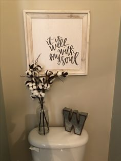 Half bathroom decor. Farmhouse, hobby lobby