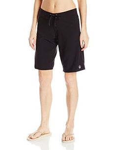 Women's Board Shorts - Volcom Womens Simply Solid 11 Boardshort *** You can get additional details at the image link. (This is an Amazon affiliate link)