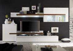 Wohnwände wohnzimmer ~ Modernes wohnzimmer gestalten wohnwand sofa decke ideen rund ums