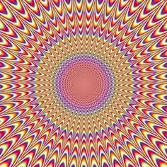 Optical illusions - on a 'trip'?  LOL   Small or large this one moves all over the place! #optical #illusion