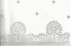 I am uploading some Kutch work designs from my kutch work book. Hope it will be helpful for the kutch work lovers. Paisley Embroidery, Border Embroidery Designs, Embroidery Motifs, Simple Embroidery, Indian Embroidery, Brazilian Embroidery, Kutch Work Saree, Kutch Work Designs, Learning To Embroider