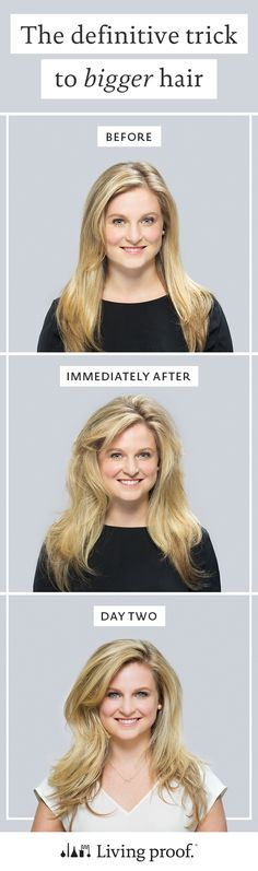 Bigger, more voluminous hair that lasts in just 3 (very simple) steps! Click through to learn more.