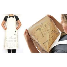 The Apron Cooking Guide by John Caswell for Suck UK comes in hand with useful information about cooking and roasting times, freezing instructions, numeric conversions, a glossary, and more. Buy it at the W store. Cooking Photos, Cooking Videos, Cooking Tips, Cooking Recipes, Cooking Food, Easy Cooking, Freezer Cooking, Freezer Meals, Modern Houses
