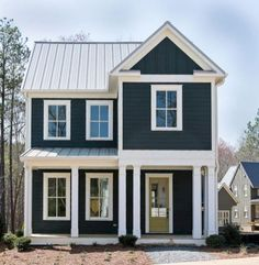 Navy Blue And White Exterior House Paint Colors