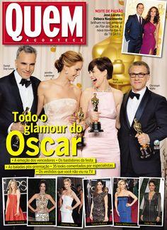 REVISTA QUEM - Todo o Glamour do Oscar: Vencedores e looks! Capa 651 (27/02/2013)
