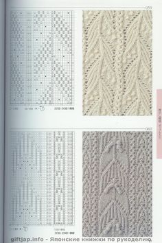 "Cable inspiration taken from ""The Big Book of Knitting Stitch Patterns"" Lace Knitting Patterns, Knitting Stiches, Cable Knitting, Knitting Charts, Lace Patterns, Knitting Designs, Stitch Patterns, Knit Stitches, How To Purl Knit"
