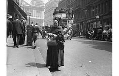 Victorian photographer Paul Martin's snapshots of Cockney London.  Match seller Ludgate Hill 1892