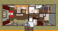 Container house design pdf and shipping container home plans. Shipping Container Home Designs, Storage Container Homes, Container House Design, Shipping Containers, 40 Container, Home Design Floor Plans, Plan Design, Container Conversions, Small House Plans