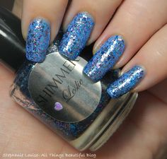 Shimmer Nail Polish in Leslie Swatches & Review http://www.stephanielouiseatb.blogspot.com/2013/06/shimmer-nail-polish-in-leslie-swatches.html  #nails #nailpolish #glitter #shimmer #beauty