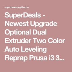 SuperDeals - Newest Upgrade Optional Dual Extruder Two Color Auto Leveling Reprap Prusa i3 3d printer DIY Kit ZONESTAR P802NR2 Free Shipping (32424257787)