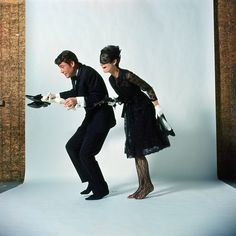 """Peter O'Toole and Audrey Hepburn in """"How to steal a million"""""""
