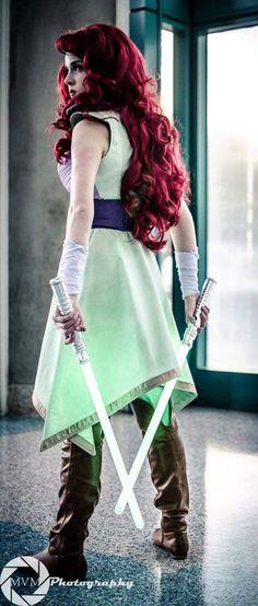 Jedi Ariel an original design  by Toria Ann, Toria Costuming, Design & Cosplay.