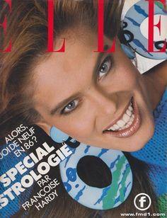 Renee Simonsen, photo by Bill King, Elle France, 1986 1990s Supermodels, Original Supermodels, Fashion Magazine Cover, Magazine Covers, Renee Simonsen, Françoise Hardy, King Photography, Elle Us, Fashion Plates