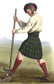 One of the commonest tales is that it came about in the 1730s at an ironworks at Glengarry in Argyll. The manager there was an Englishman called Thomas Rawlinson who wore the kilt himself and noticed the inconvenience of being unable to remove the top half when it became soaking wet with rain, without having to take the bottom part off as well. So he separated the top half and got a tailor to sew the pleats permanently into the bottom half. The Chief of Glengarry - Iain MacDonell - saw this…
