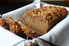 Coconut Flour Zucchini Bread (with Crumble Topping) - add carrot and apples to this and I bet it will be similar to the non-gluten free version of Carrot, Zucchini, apple bread.| The Unrefined Kitchen | Paleo & Primal Recipes