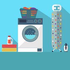 Projeto do fundo de lavandaria Vetor grátis