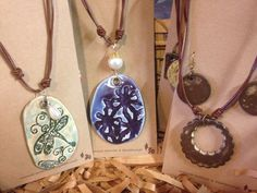 """""""We Are The Clay"""" pottery jewelry 