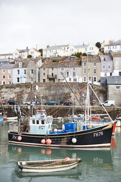 My dad was the captain of a fishing boat like this one. (Mevagissey Harbour, Cornwall)